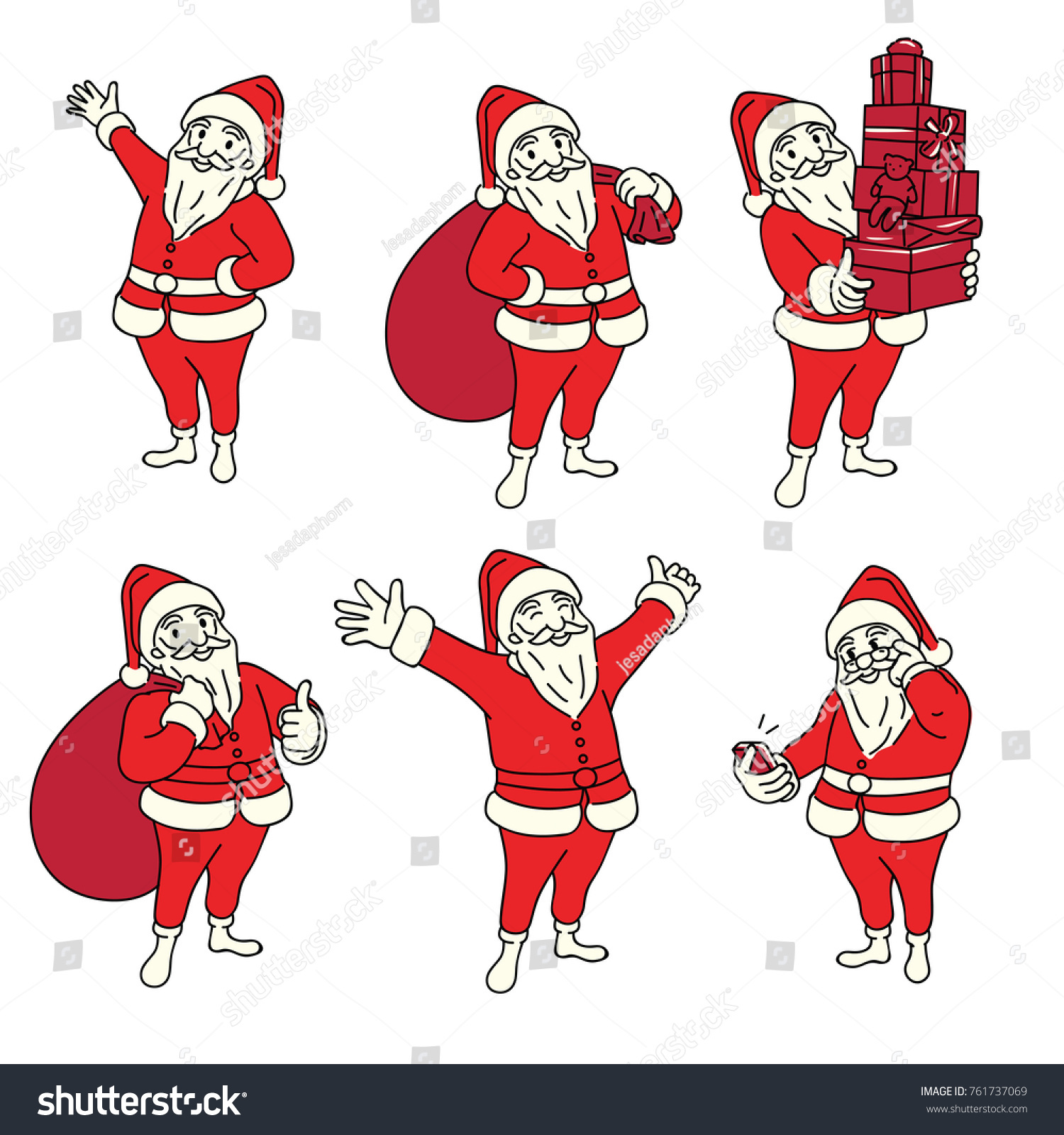 Vector Illustration Character Christmas Santa Claus Stock ...