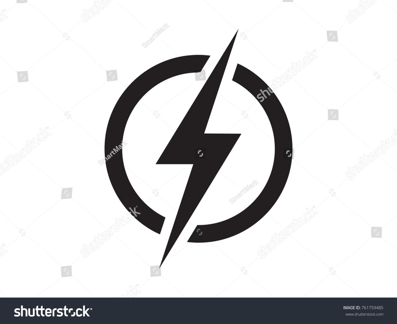 Lightning Electric Power Vector Logo Design Stock Vector 761759485 ...