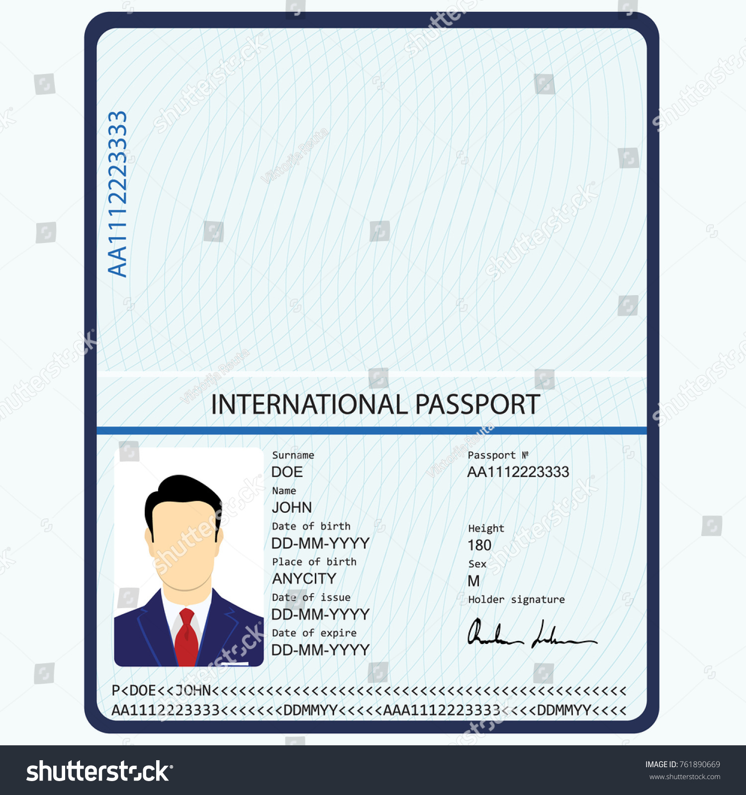 How can I find the passport data