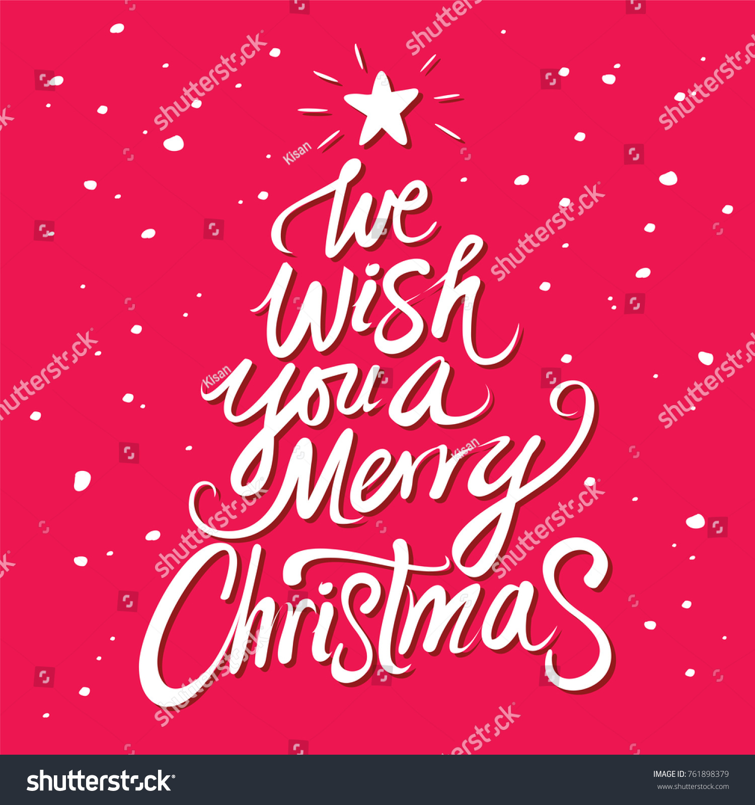 We Wish You Merry Christmas Text Stock Vector (Royalty Free ...