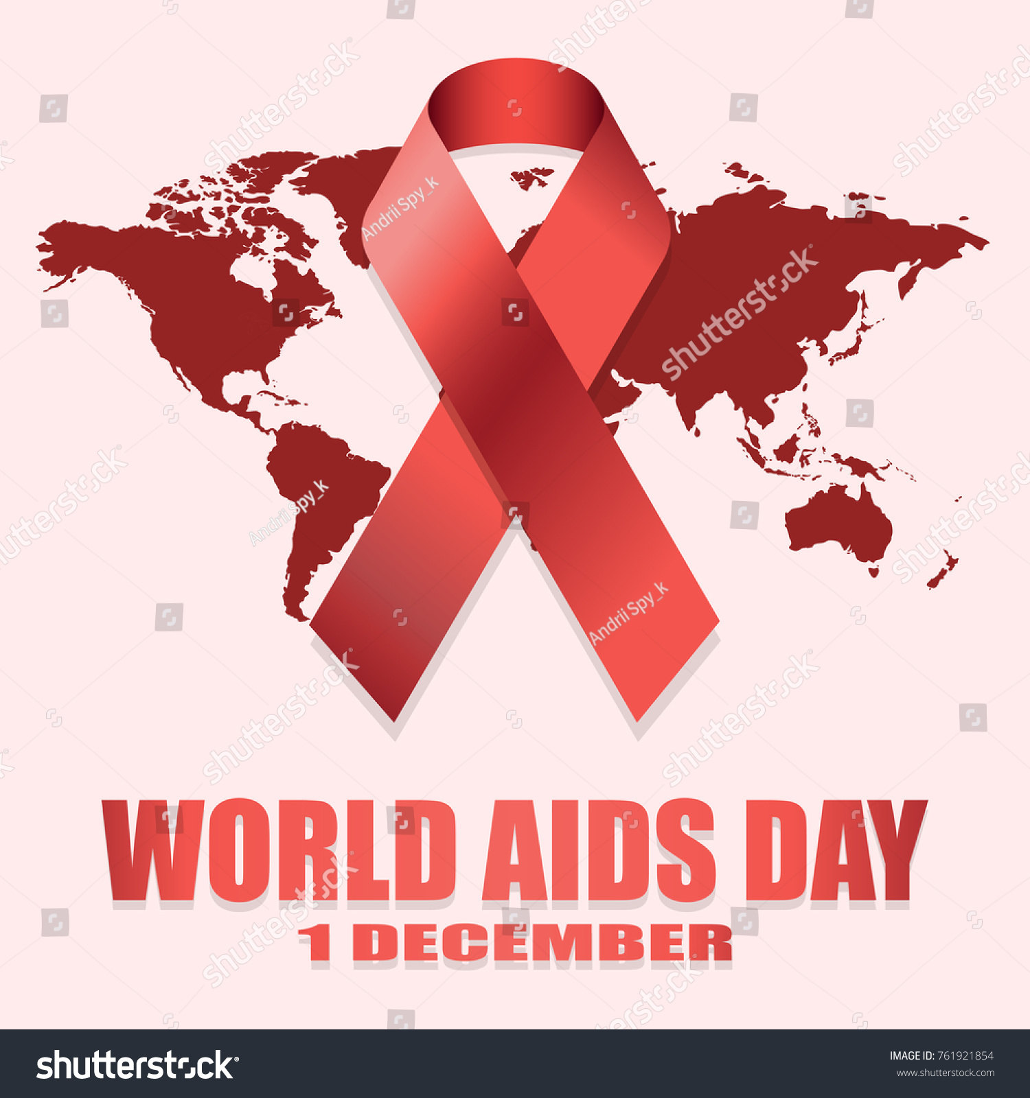 World aids day 1st december world stock vector 761921854 world aids day 1st december world aids day poster with with red world map gumiabroncs Gallery
