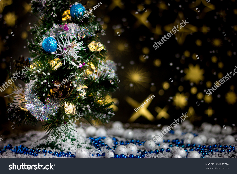 Christmas Time Christmas Tree Snow Stock Photo Edit Now 761986714