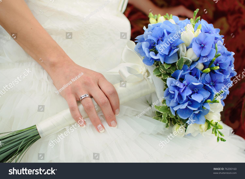 Inspiring fresh flower wedding bouquet pics inspirations dievoon stock photo beautiful blue and white fresh flowers izmirmasajfo
