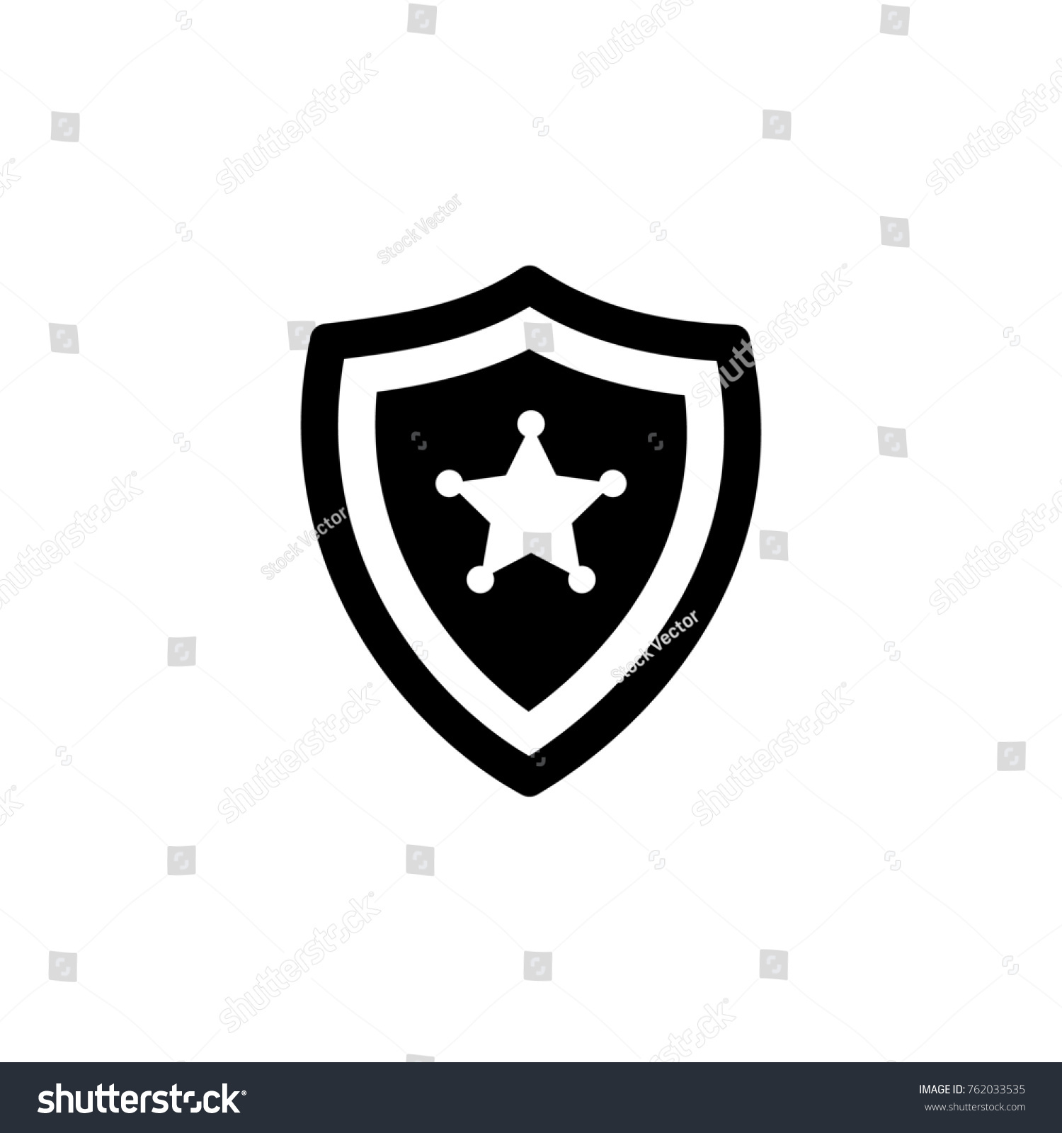Police Badge Icon Police Element Icon Stock Illustration Royalty