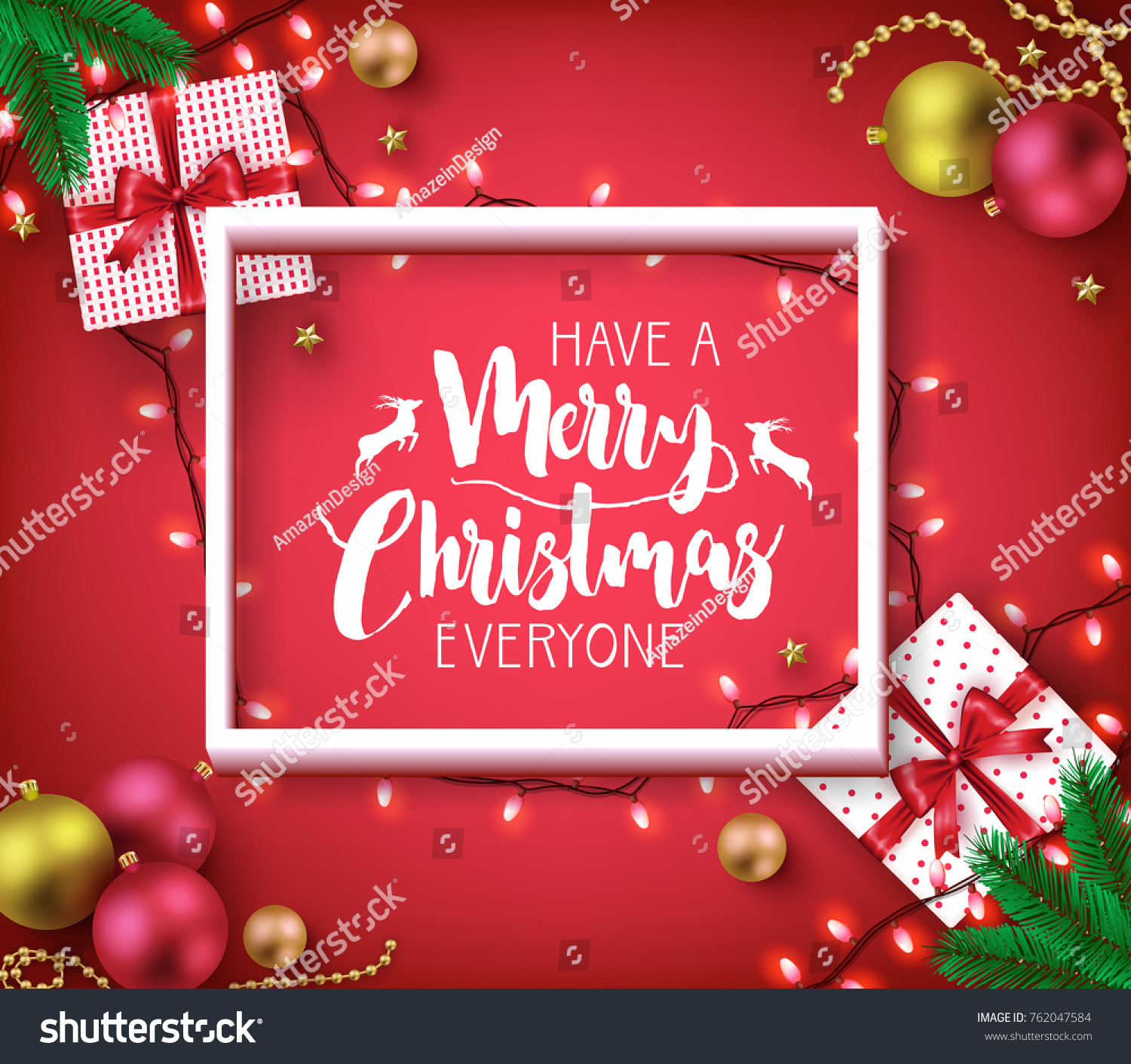 Have Merry Christmas Everyone Greeting Typography Stock Vector