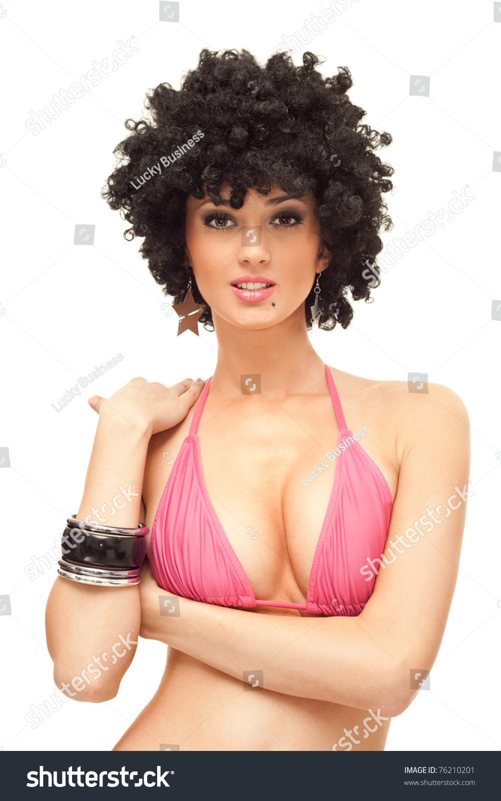 Human Hair Afro Wig Short Afro Kinky Curly Lace Front Wigs
