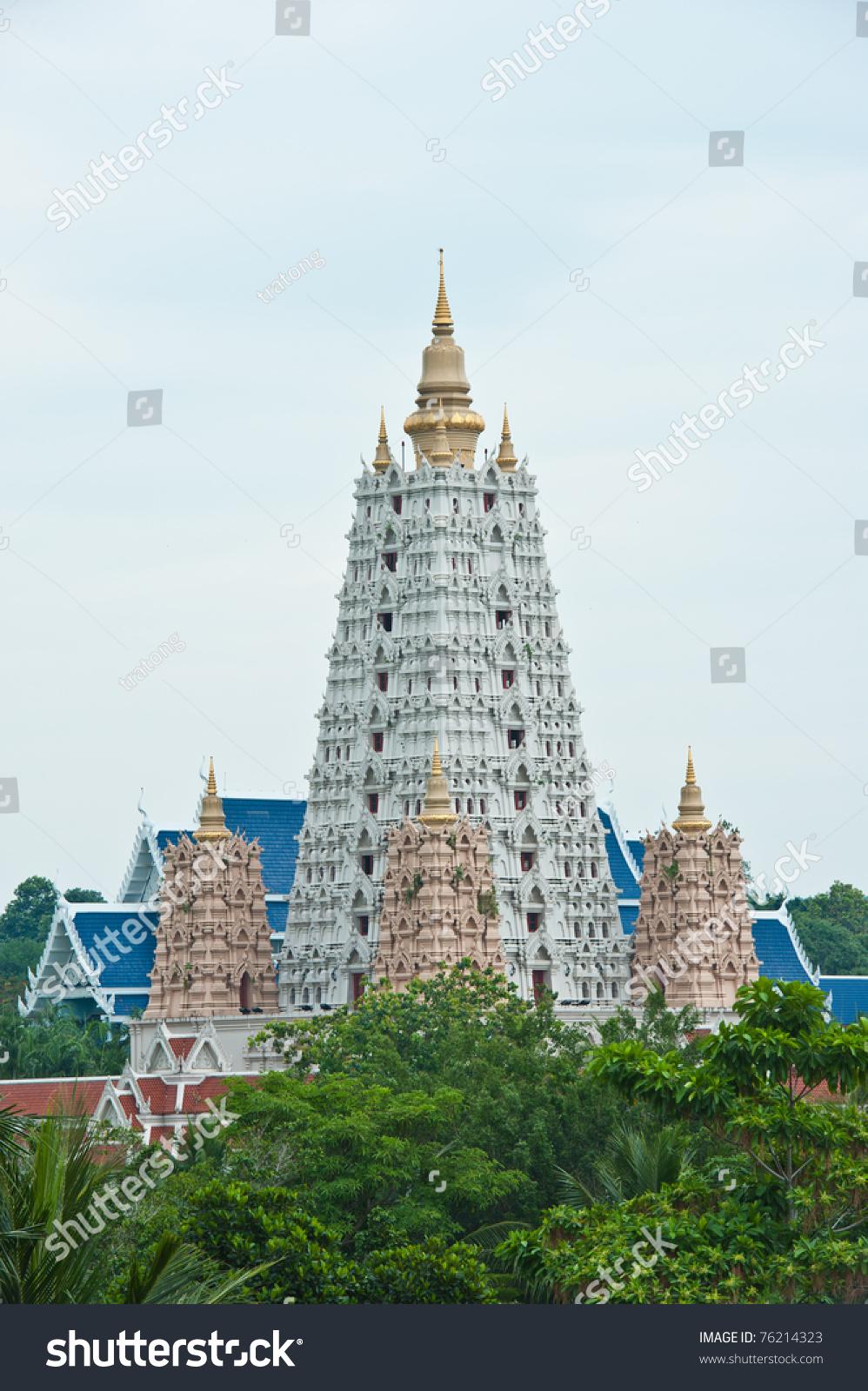 Wat Yansangwararam, Pattaya, Chonburi Stock Photo 76214323 ...