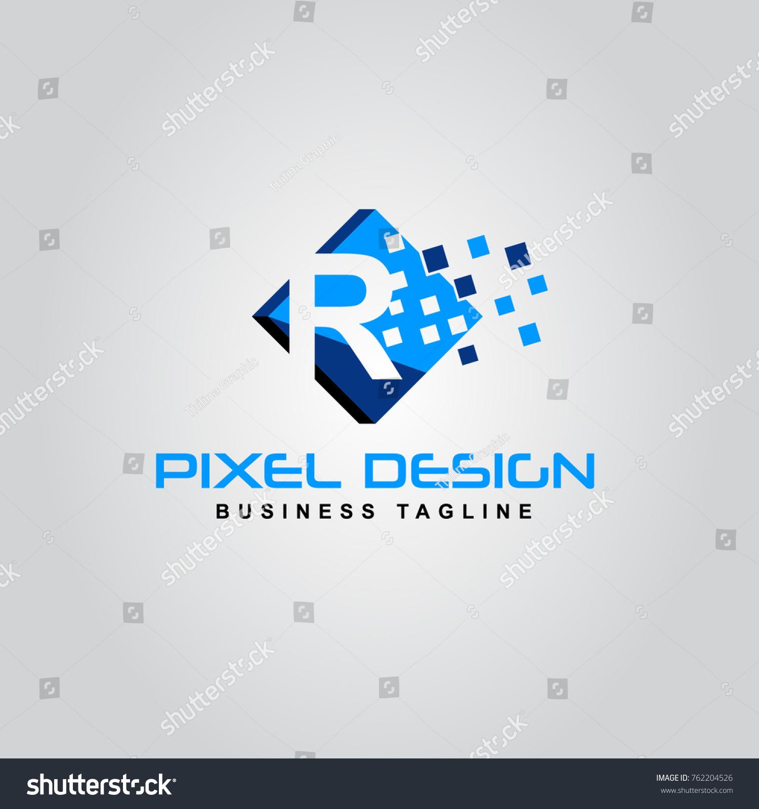 Pixel logo design r letter logo stock vector 762204526 shutterstock pixel logo design of the r letter logo r pixel logo modern creative alphabet letter buycottarizona