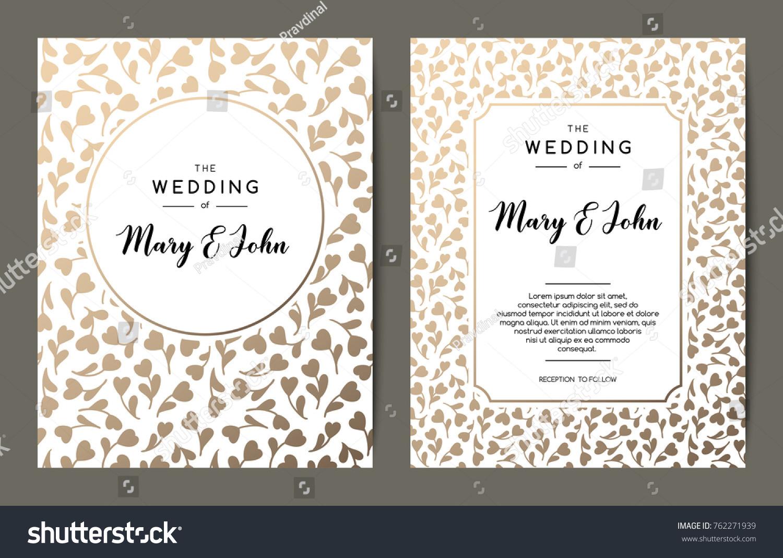 elegant wedding invitation backgrounds card design のベクター画像