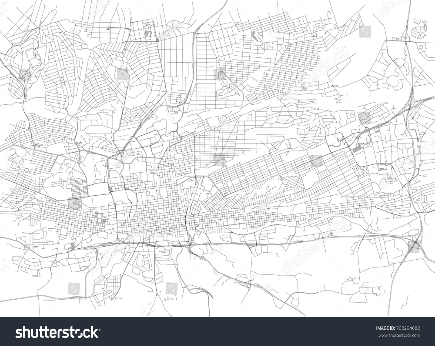 Streets Johannesburg City Map South Africa Stock Vector HD Royalty