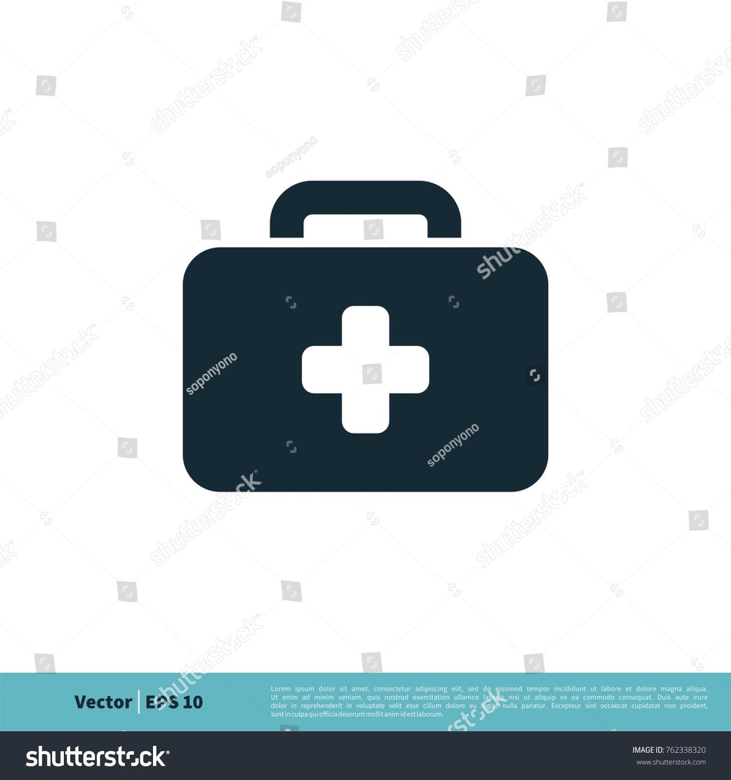 Doctor Paramedic Bag Icon Vector Logo Stock Vector 762338320 ...