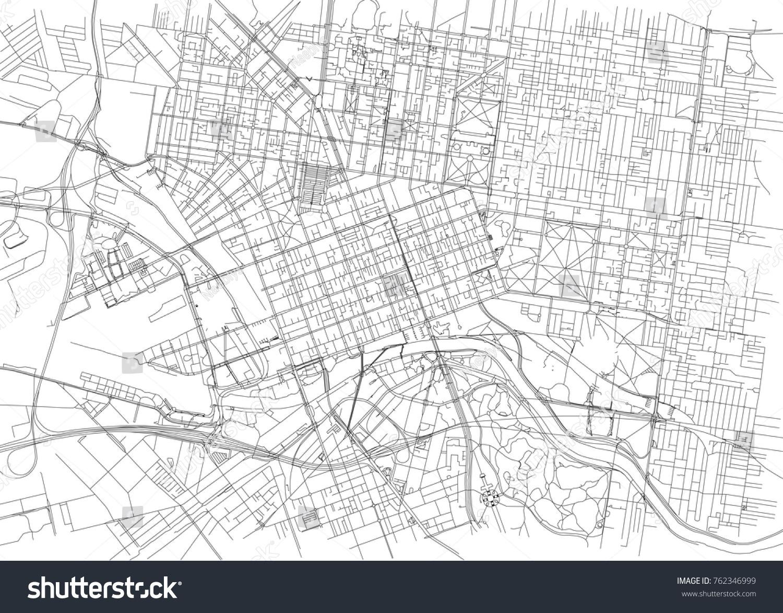 streets of melbourne city map australia street map