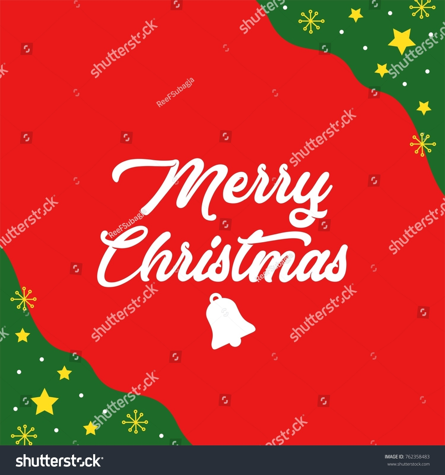 Merry Christmas Gift Card Stock Vector (Royalty Free) 762358483 ...