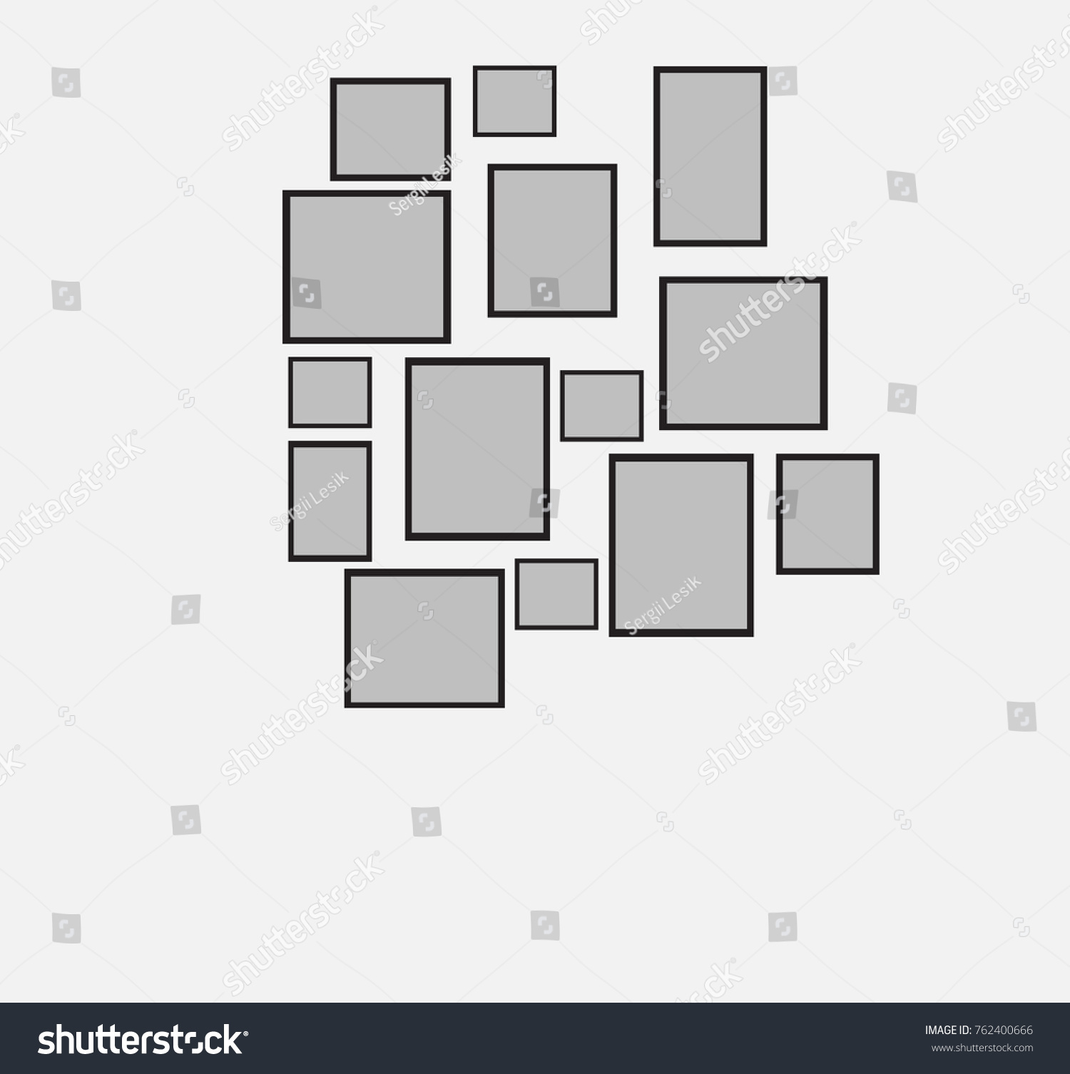 Example Device Frames On Wall How Stock Vector 762400666 - Shutterstock