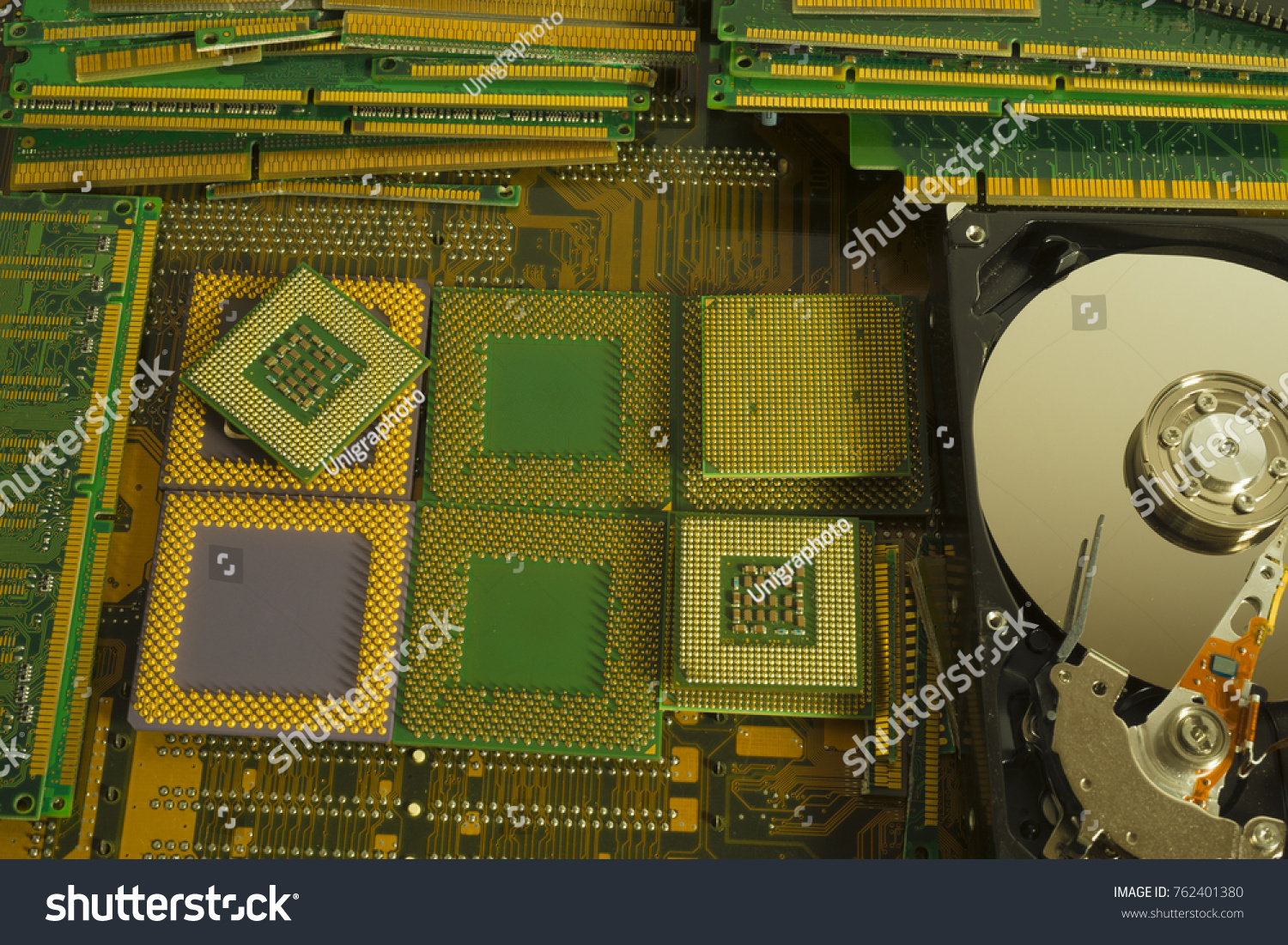 Old Computer Parts Artist Uses To Recreate Circuitboardclockjpg Gold Recovery Electronic Stock Photo Edit Now