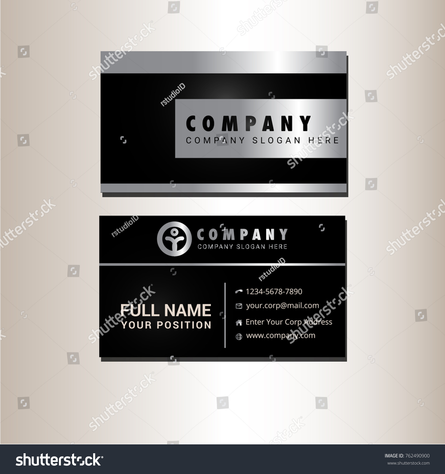 Black And Silver Business Cards Gallery - Free Business Cards