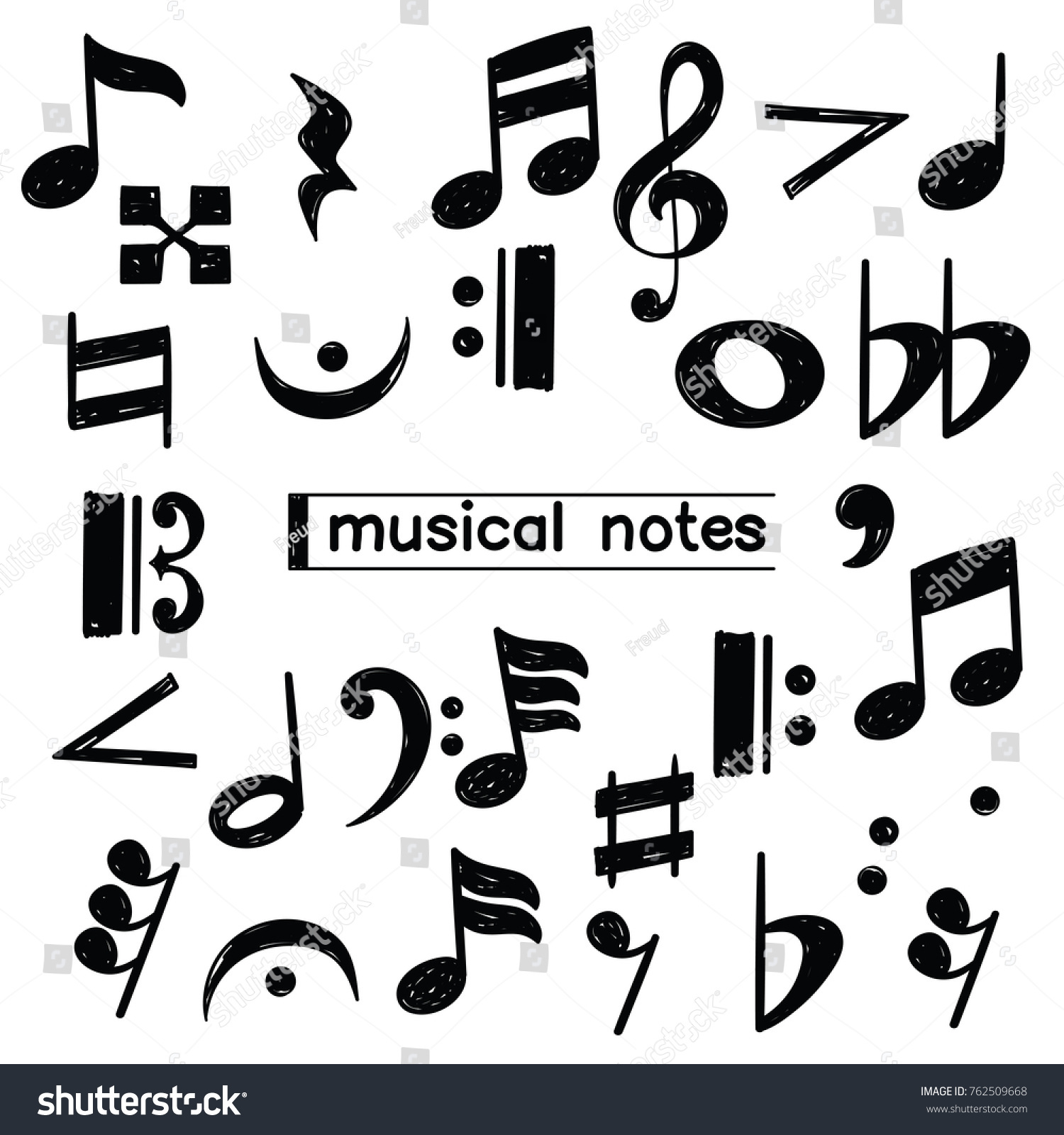 Musical notes symbol images symbol and sign ideas set doodle musical note symbol sketch stock vector 762509668 set of doodle musical note symbol sketch biocorpaavc Images