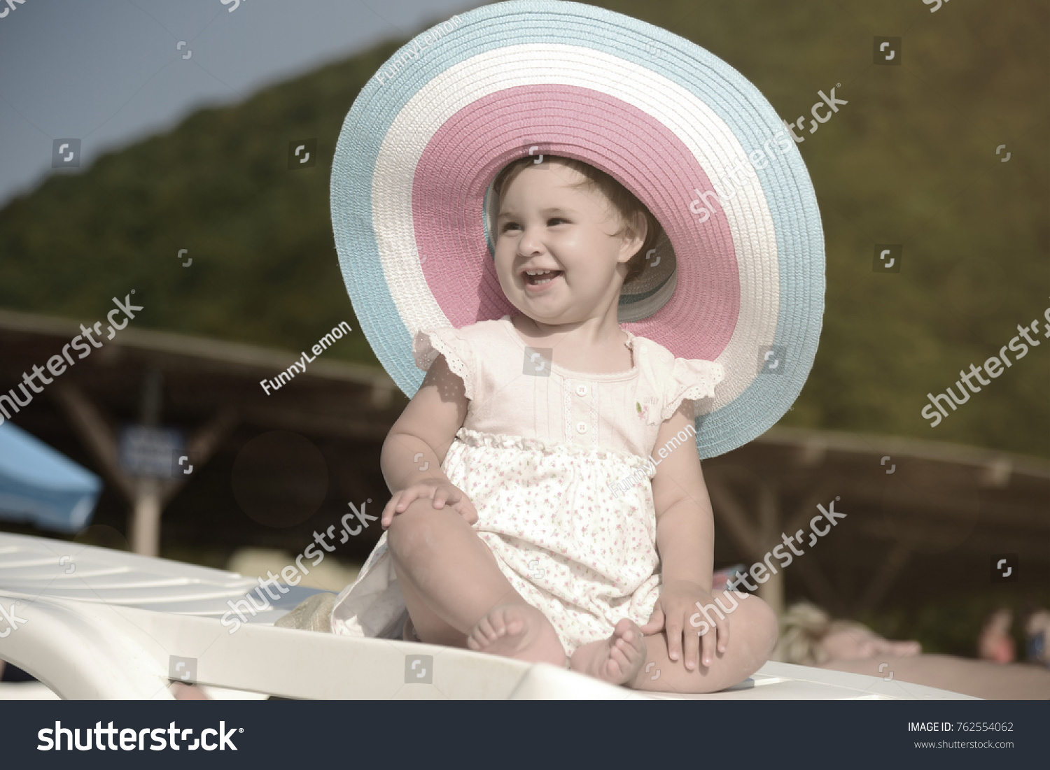 little cute small baby girl big stock photo (edit now) 762554062