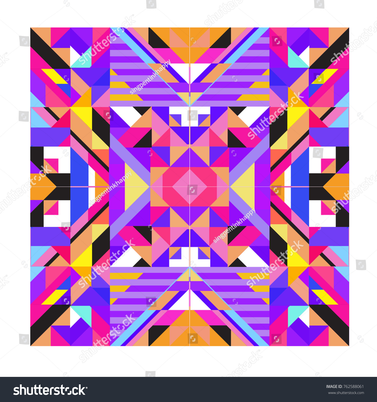 Trendy Geometric Elements Memphis Pattern Retro Style Texture, Pattern And