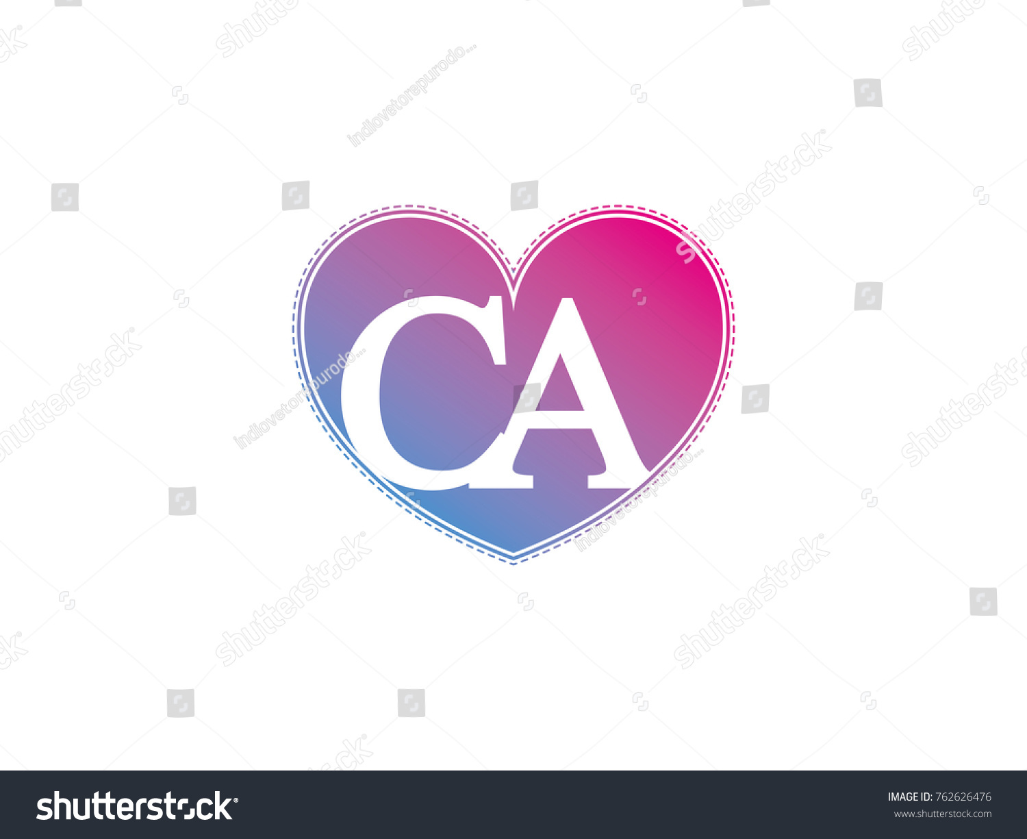Initial letter ca heart symbol logo stock vector 762626476 the initial letter ca in the heart symbol as a logo sign and decoration biocorpaavc