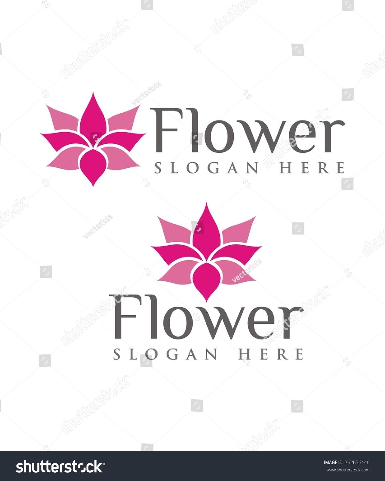 Flower Logo Lotus Flower Logo Design Stock Vector Royalty Free