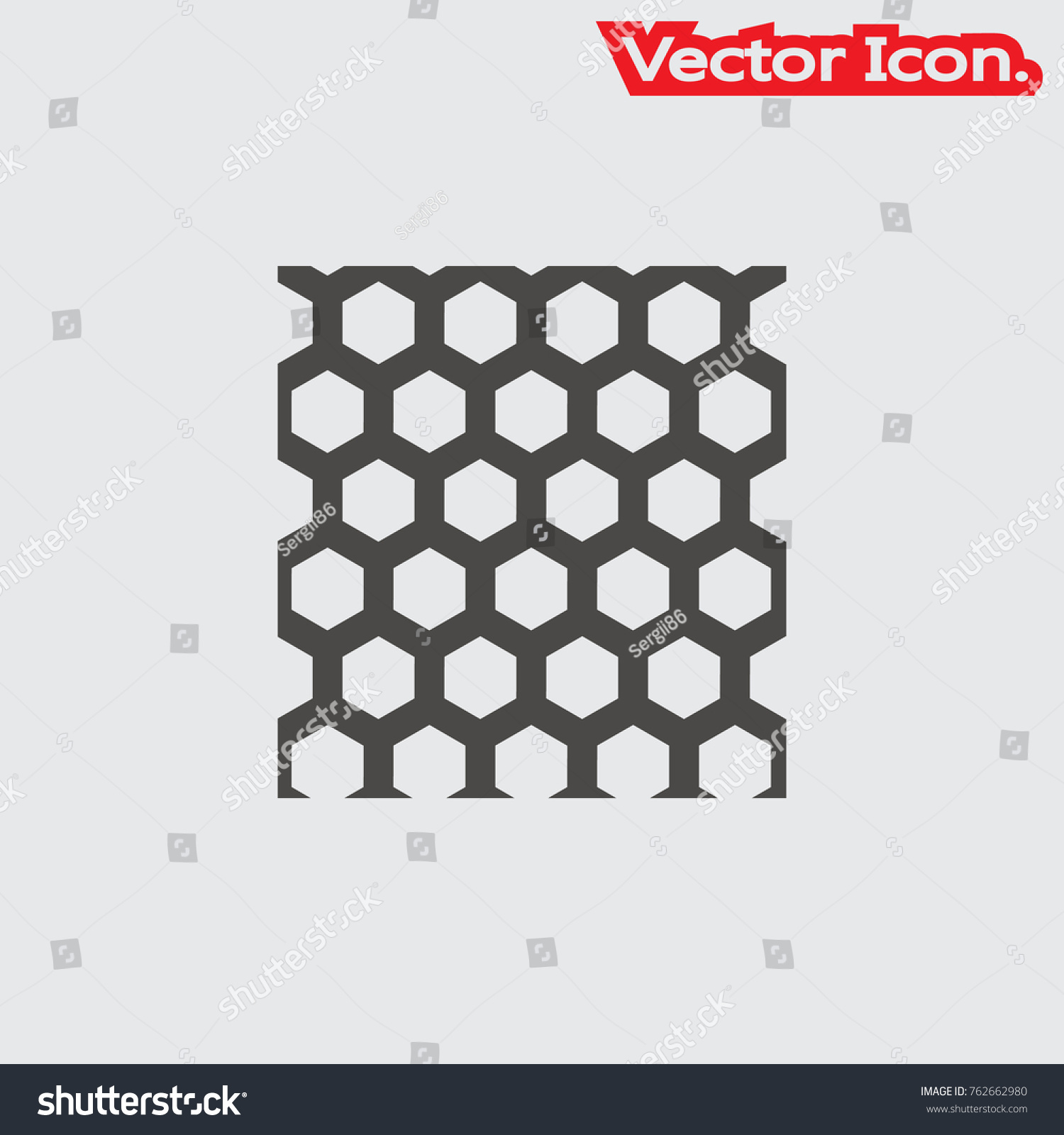 Wire Mesh Icon Isolated Sign Symbol Stock Vector 762662980 ...