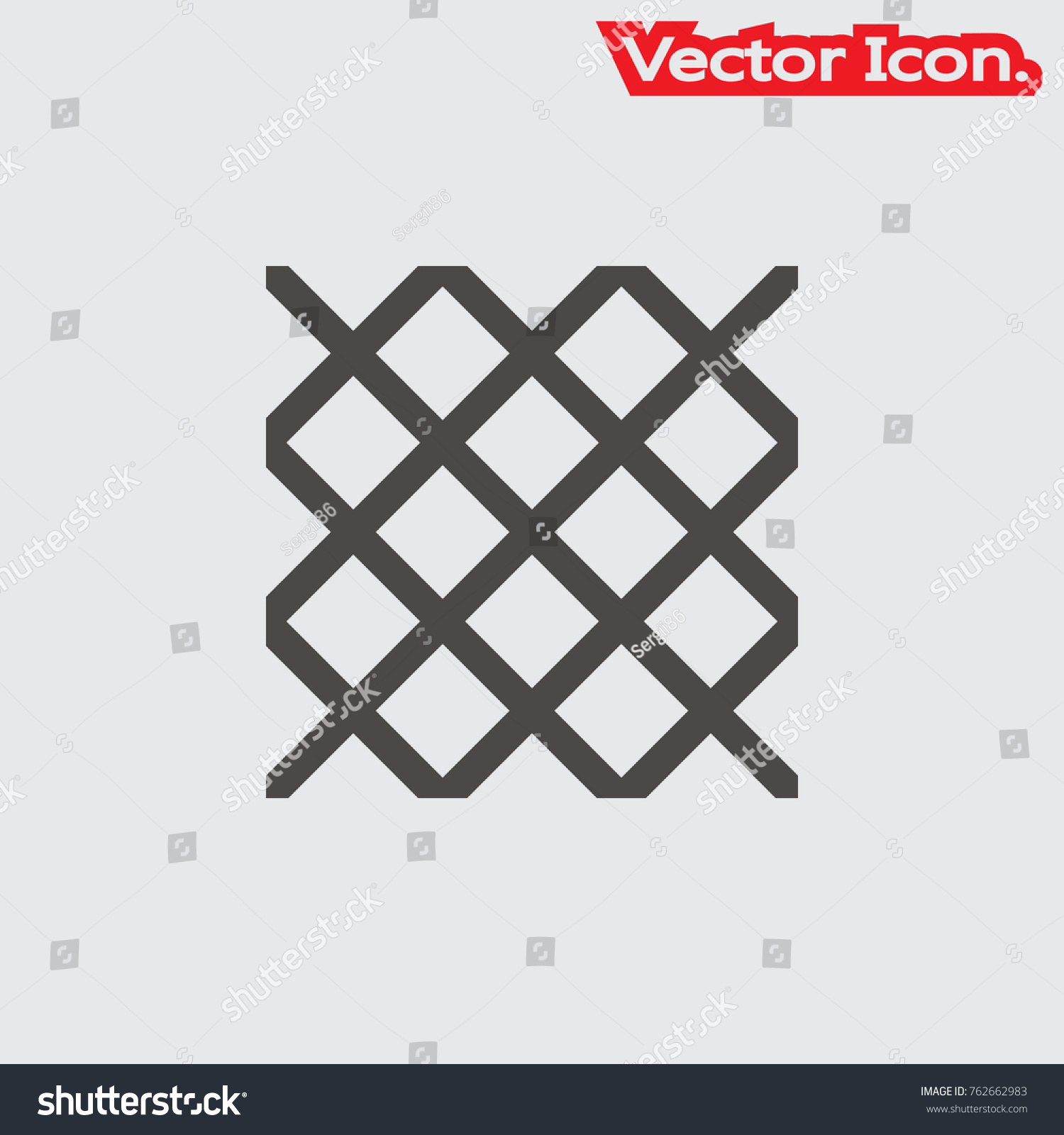 Wire Mesh Icon Isolated Sign Symbol Stock Photo (Photo, Vector ...