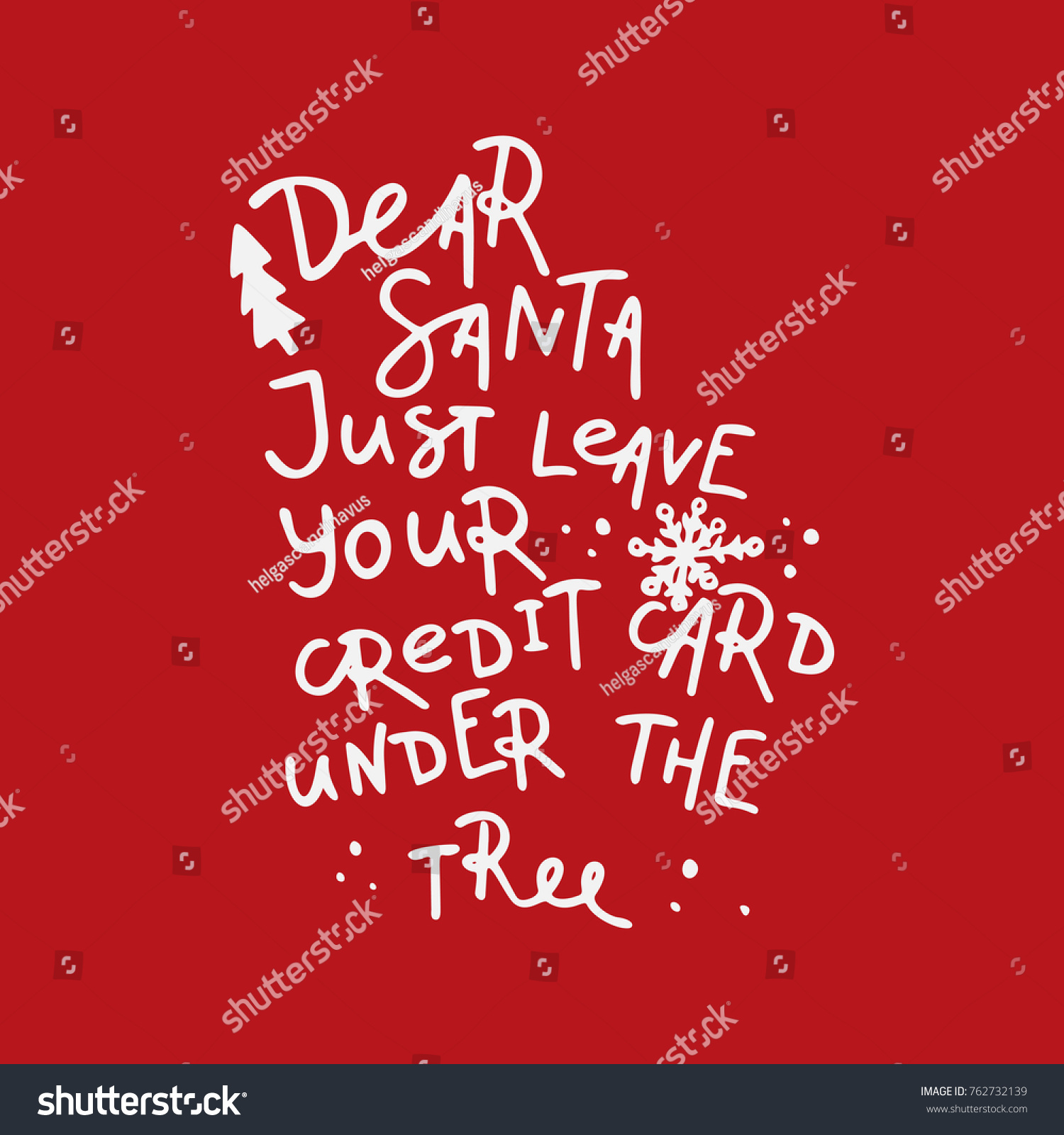 Dear Santa Let Me Explain Handlettering Stock Vector (Royalty Free ...