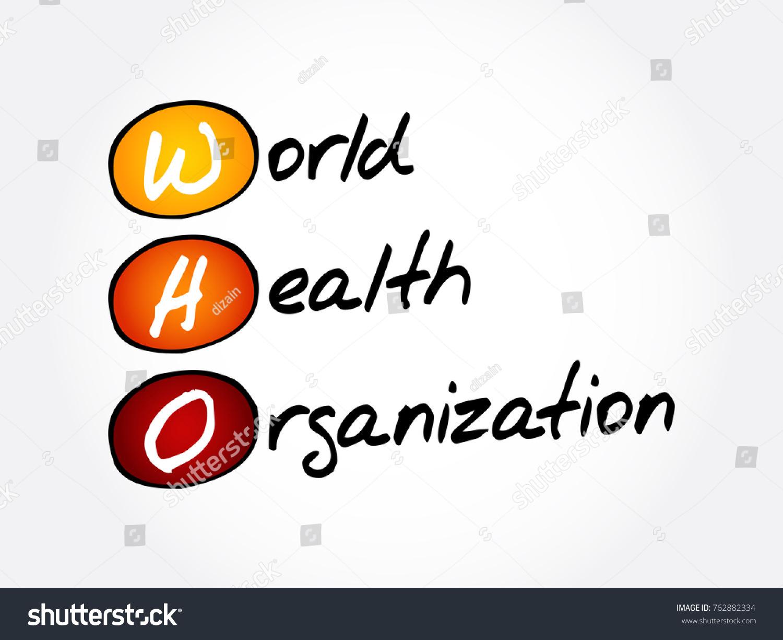 WHO World Health Organization Acronym Concept Stock Vector Royalty