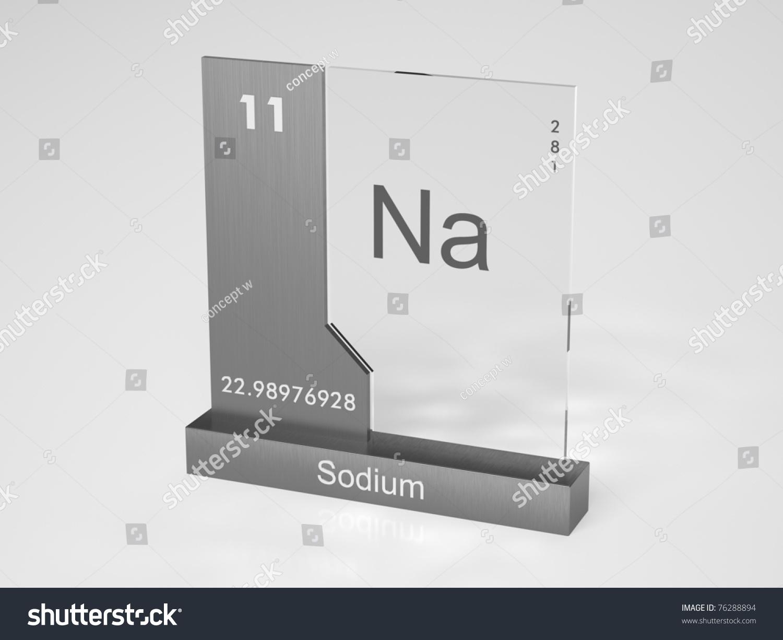 sodium symbol na chemical element periodic stock illustration