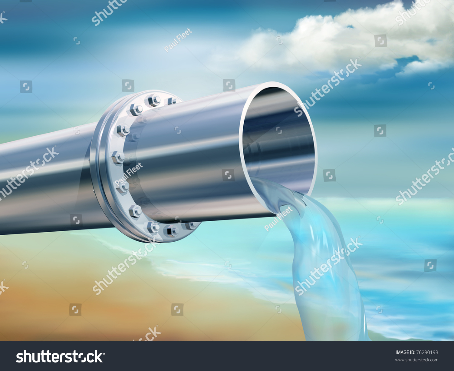 Illustration Water Pipe Providing Clean Drinking Stock ...
