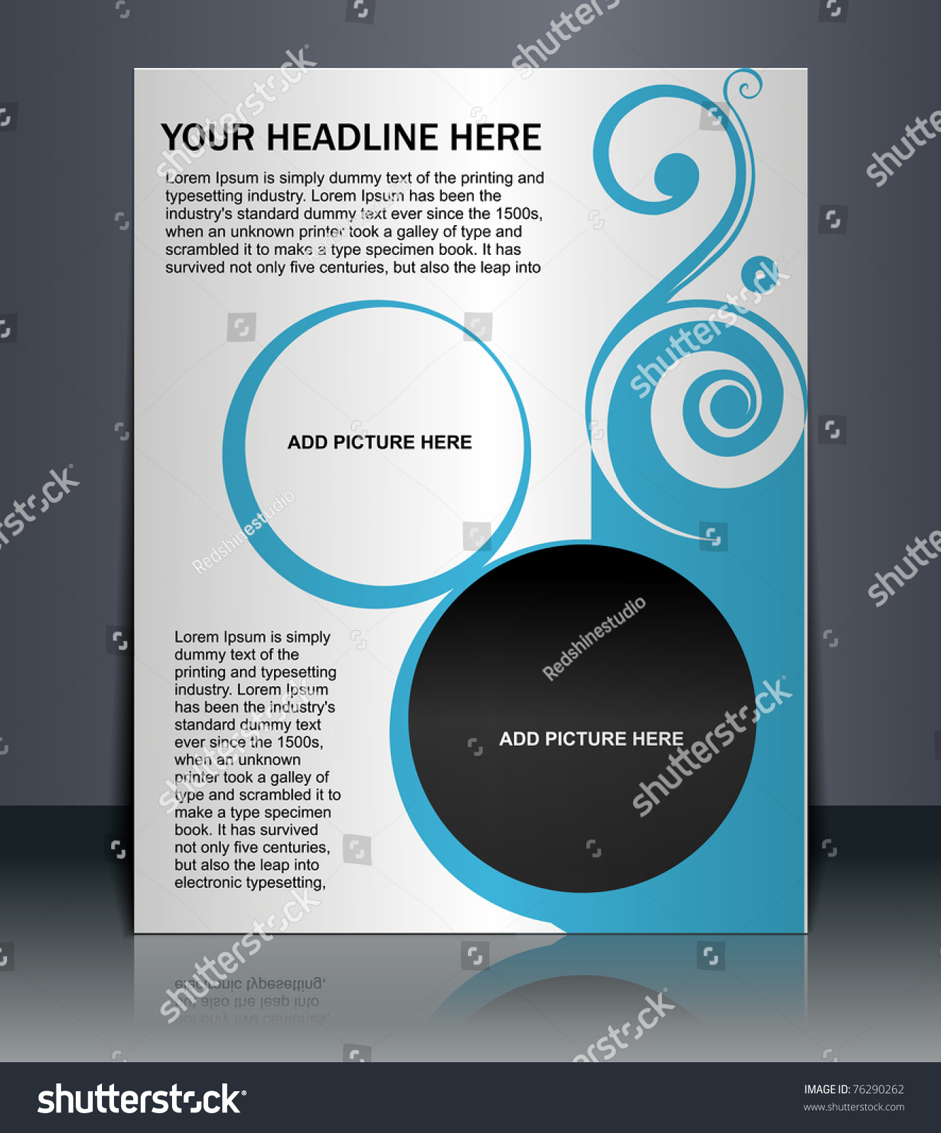 presentation flyer design content background editable stock vector presentation of flyer design content background editable vector illustration