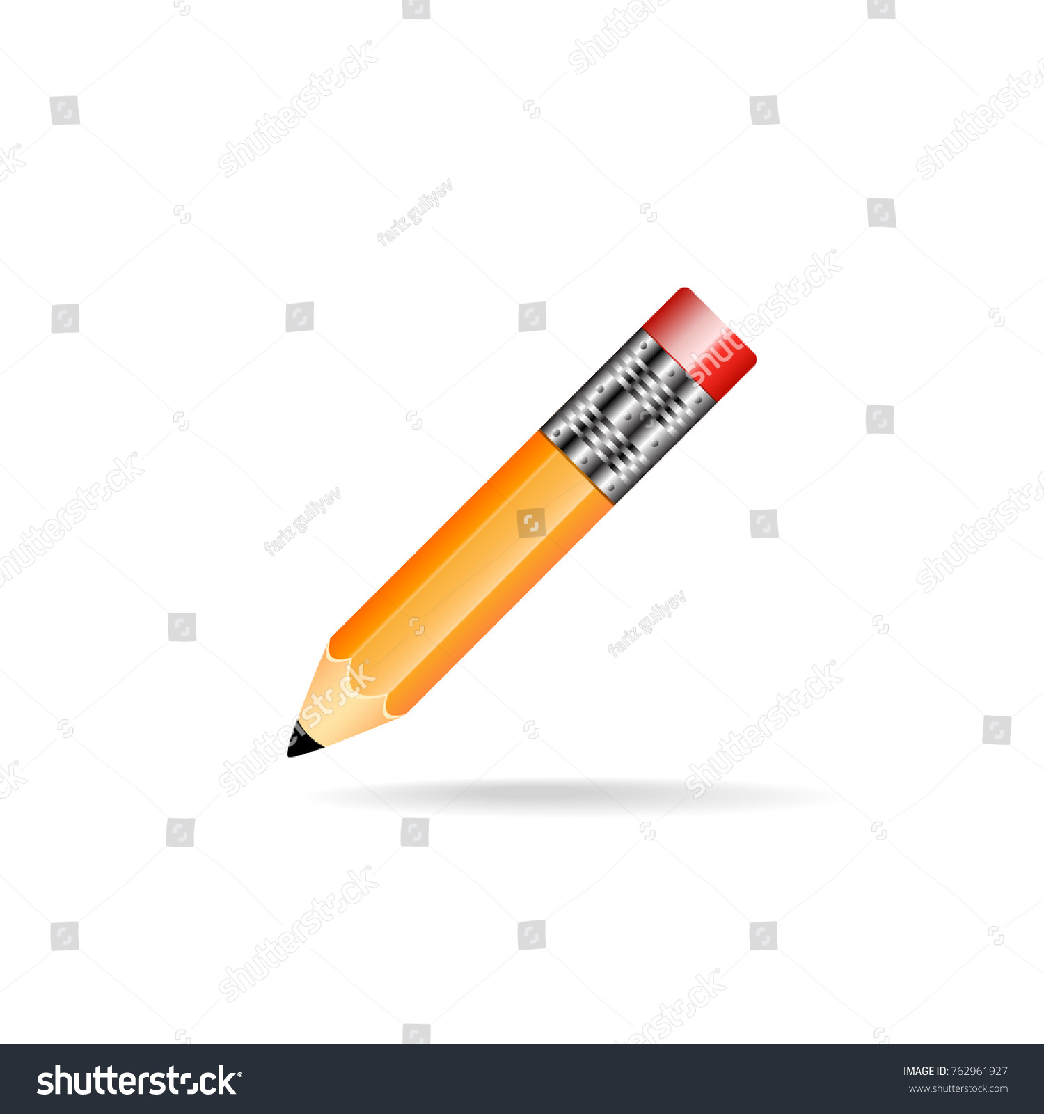 simple pencil on white fon stock vector royalty free 762961927