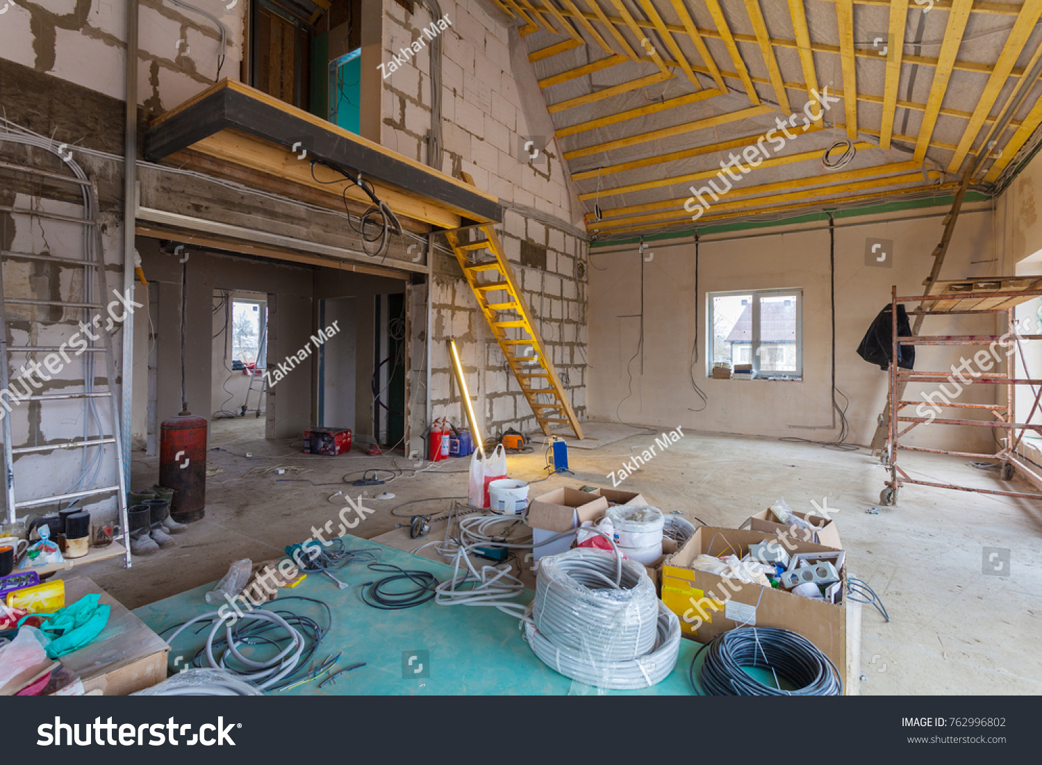 Materials Repairs Tools Remodeling House Building Stock Photo ...