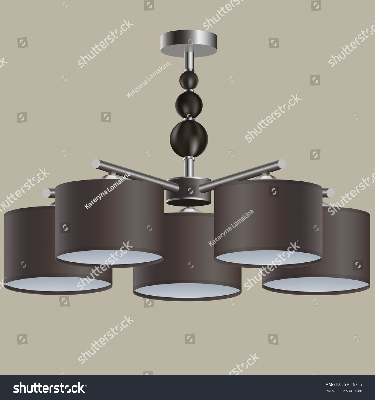 Chandelier 3d Model Stock Vector (Royalty Free) 763016725