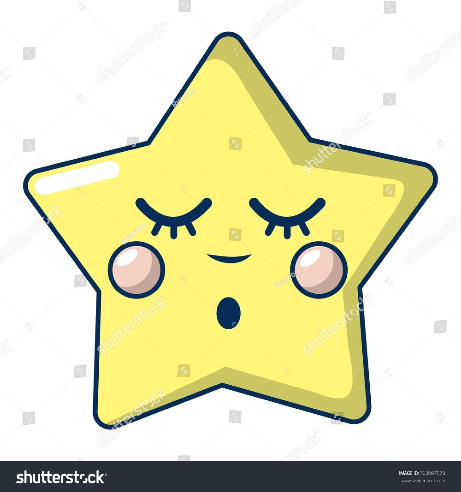 sleeping star icon cartoon illustration sleeping stock vector 2018 rh shutterstock com Christmas Star Cartoon Clip Art Super Star Clip Art