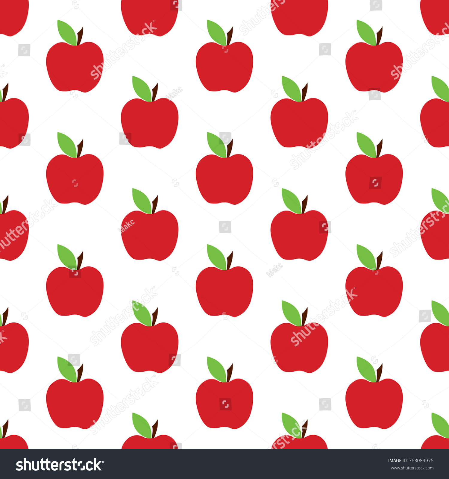 red apple seamless pattern background cute stock vector hd (royalty