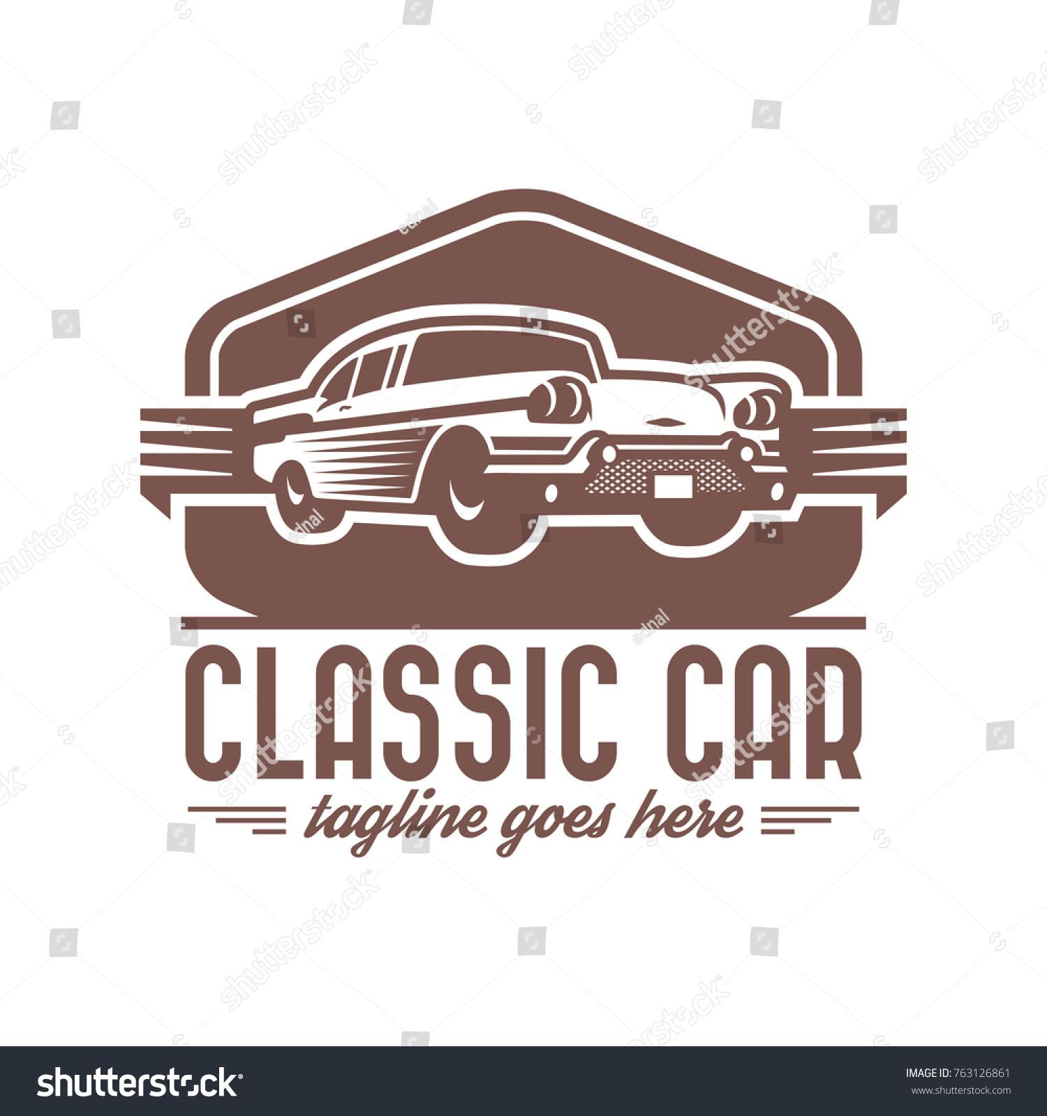 Template Classic Vintage Retro Car Logo Stock Vector 763126861 ...