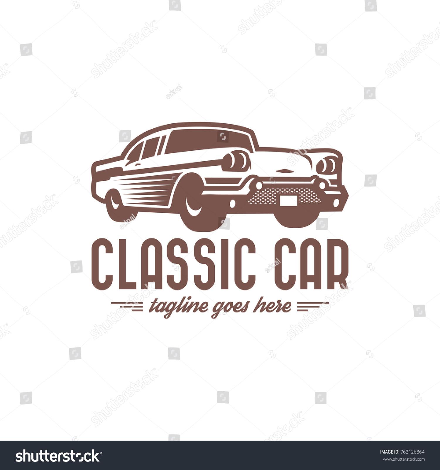 Template Classic Vintage Retro Car Logo Stock Vector HD (Royalty ...