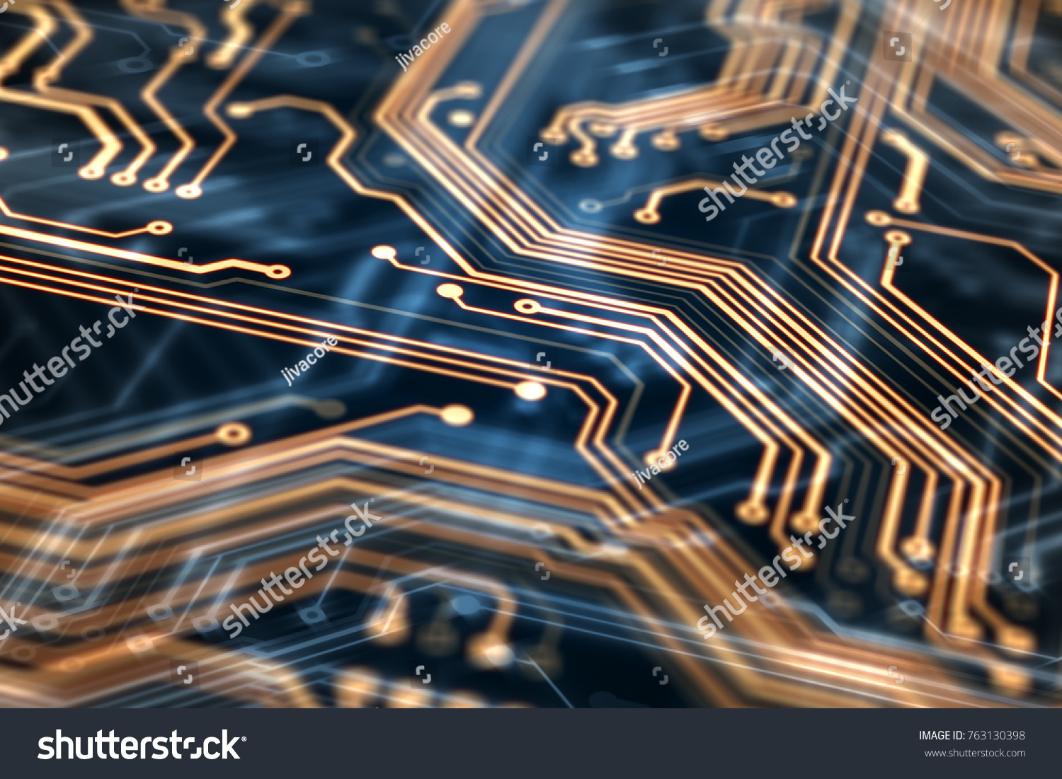 3d Rendering Circuit Board Futuristic Server Code Processing Electric Processor Tshirts Orange Green Blue Technology Background With Bokeh Ez Canvas