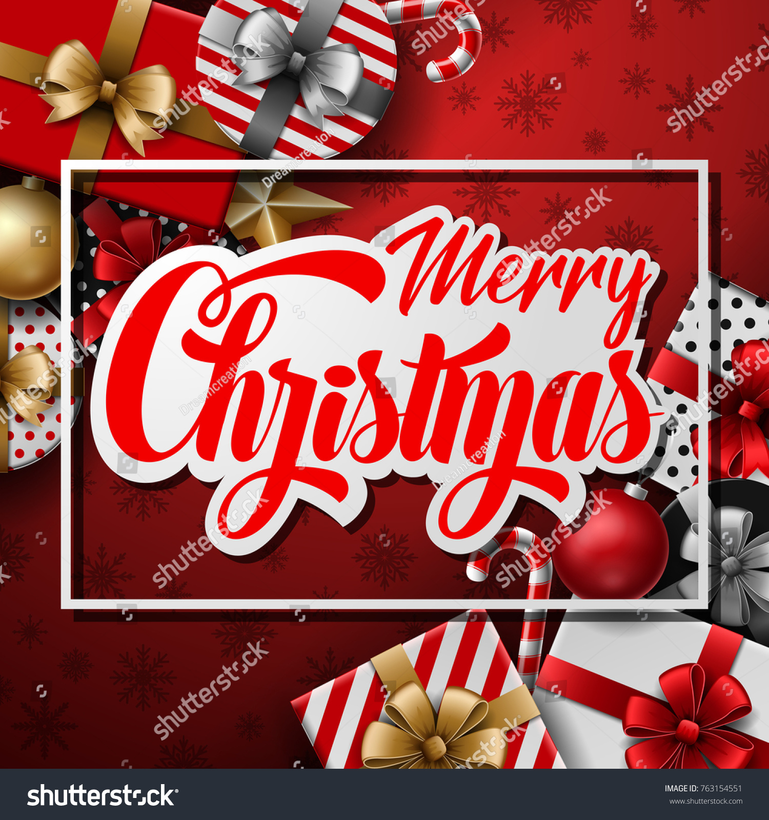 Vector illustration merry christmas text on stock vector 763154551 vector illustration of merry christmas text on paper label with christmas elements kristyandbryce Image collections
