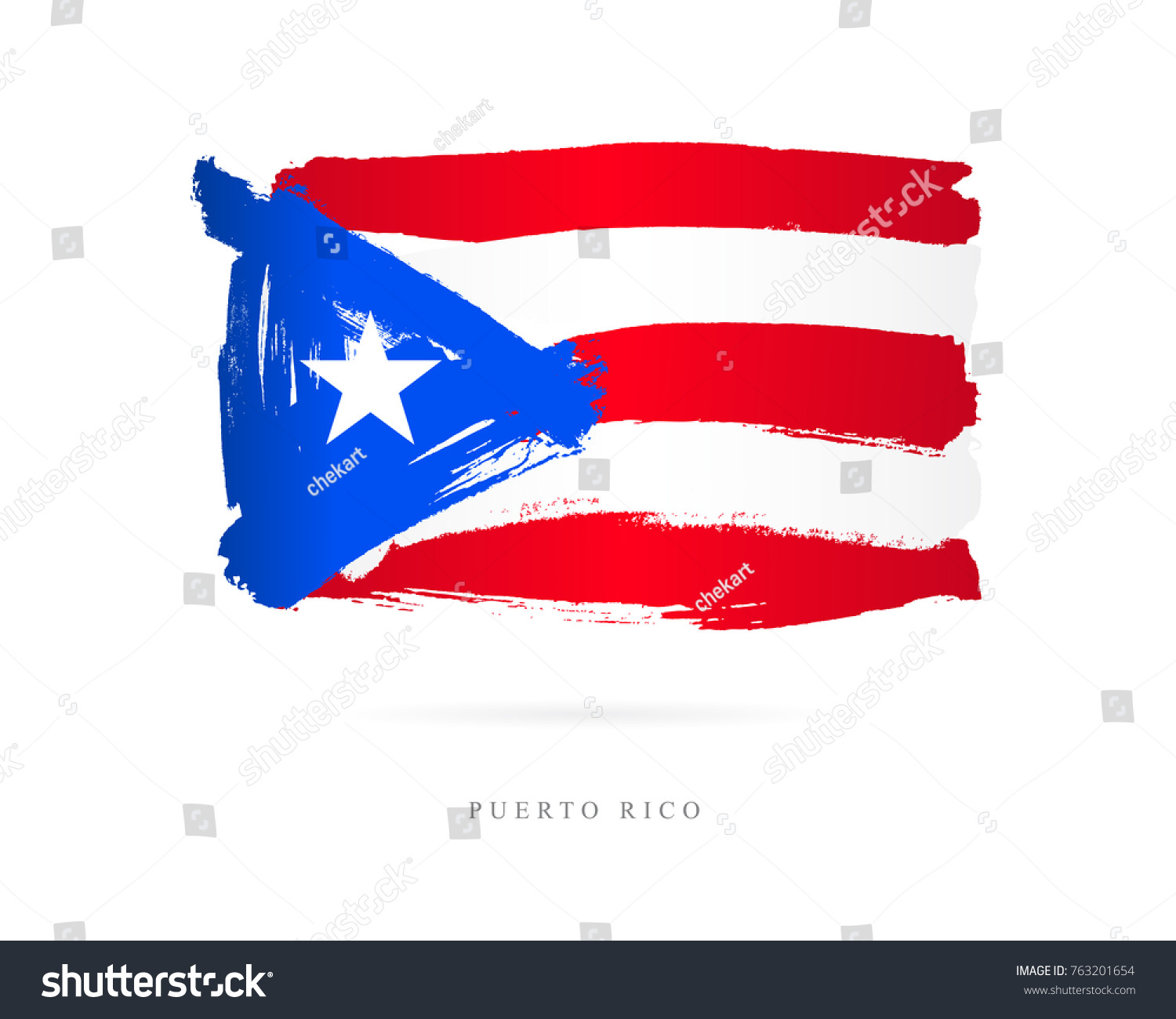 Flag puerto rico vector illustration on stock vector 763201654 flag of puerto rico vector illustration on white background beautiful brush strokes abstract biocorpaavc Images