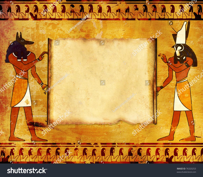 Egypt Wallpaper: Background Egyptian Gods Images Anubis Horus Stock