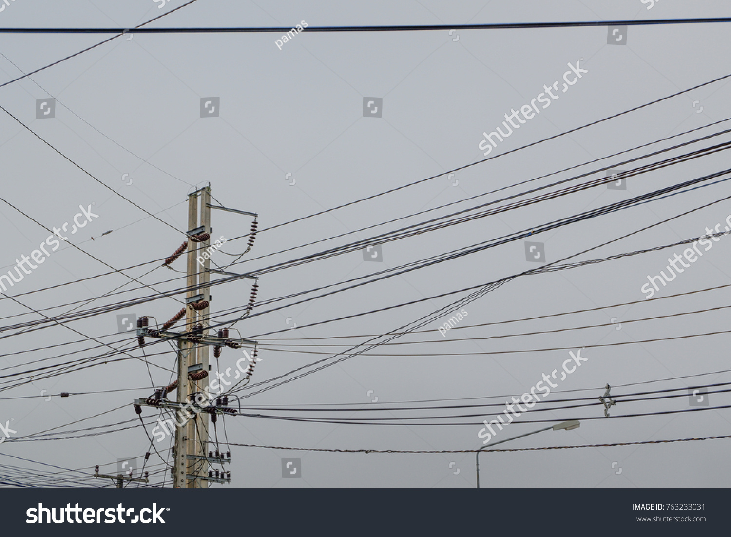Power Poles Wires Send Energy Homes Stock Photo (Royalty Free ...