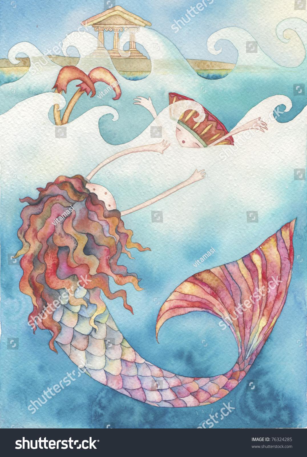小美人鱼的故事 - 教育,艺术 - 站酷海洛创意正版