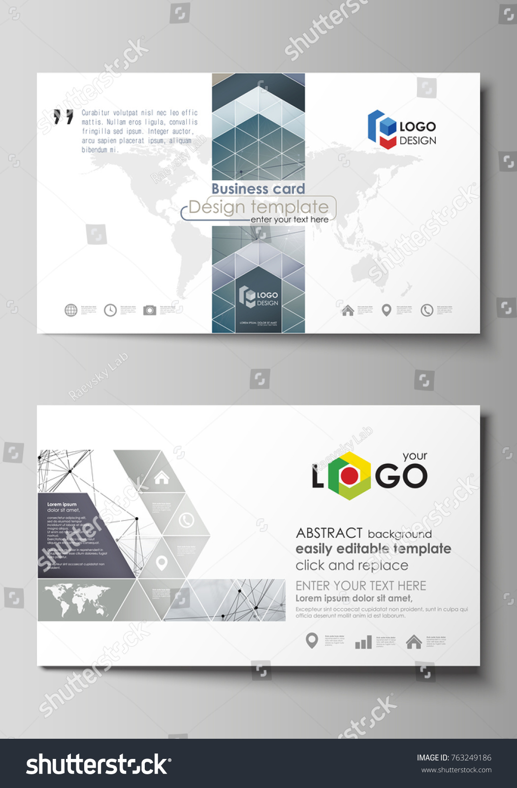 Business card text layout gallery free business cards business card text layout gallery free business cards business card templates easy editable layout stock vector magicingreecefo Choice Image