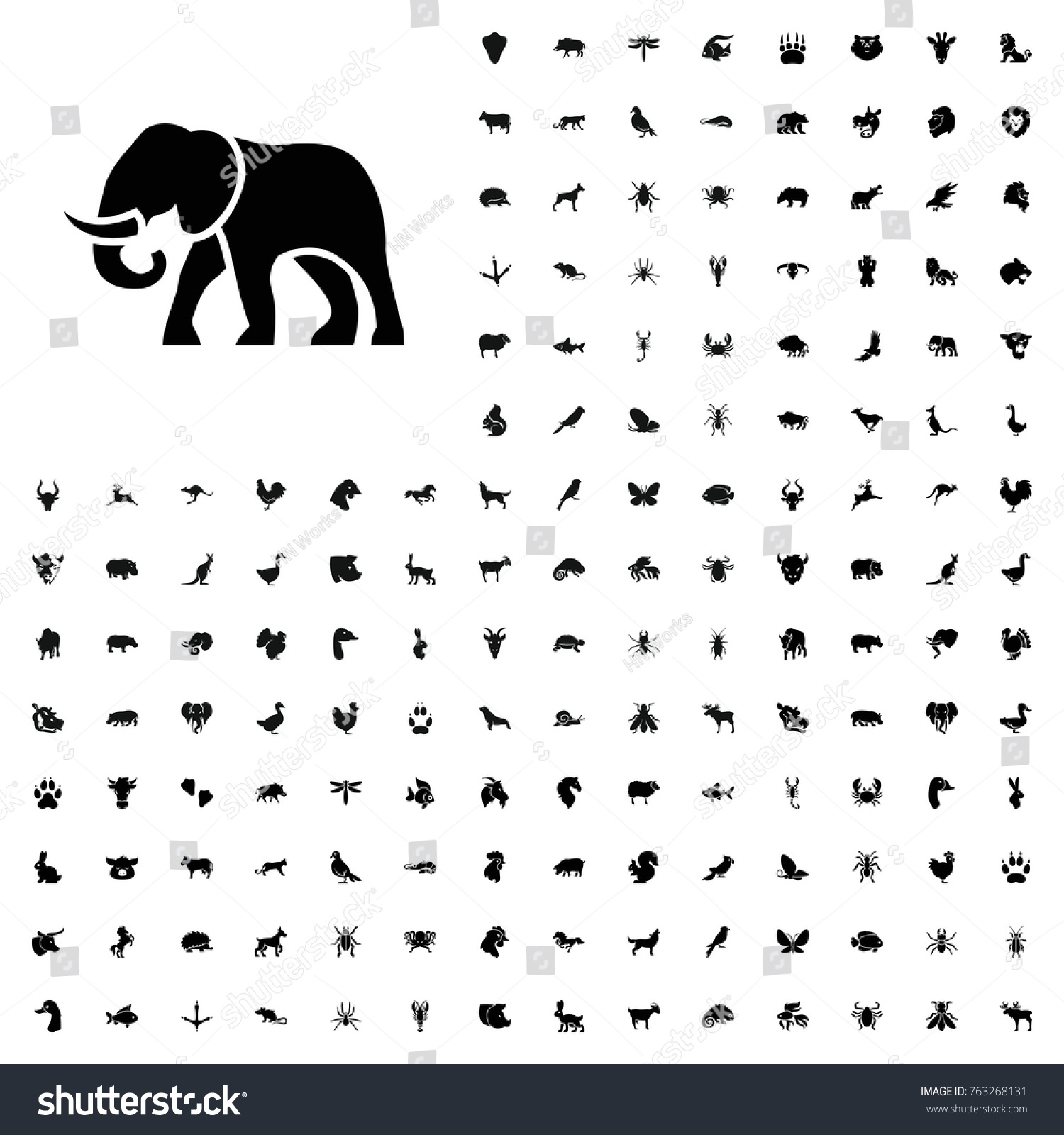 Elephant Icon Illustration Isolated Vector Sign Stock Vector