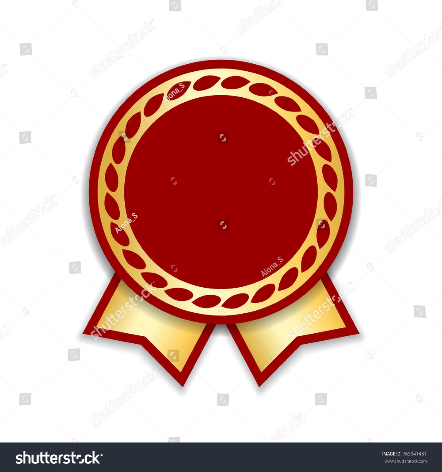 Award ribbon isolated gold red design stock vector 763341481 award ribbon isolated gold red design medal label badge certificate symbol buycottarizona