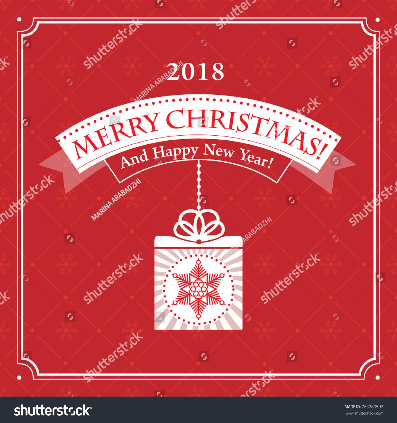 Christmas Greeting Card Printing Websites Vector Stock Vector ...