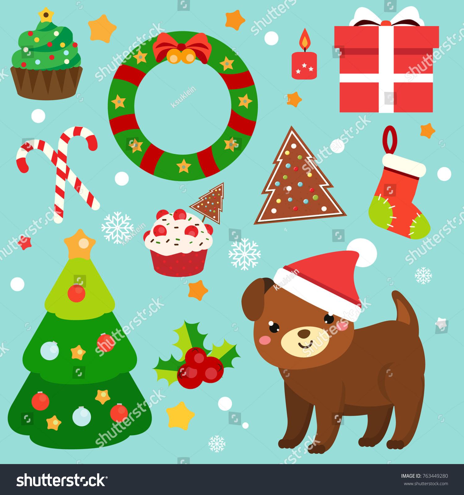 Christmas Clip Art 2018 New Year Stock Vector (Royalty Free ...